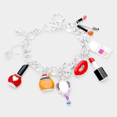 Enamel Cosmetic Charm Toggle Bracelets
