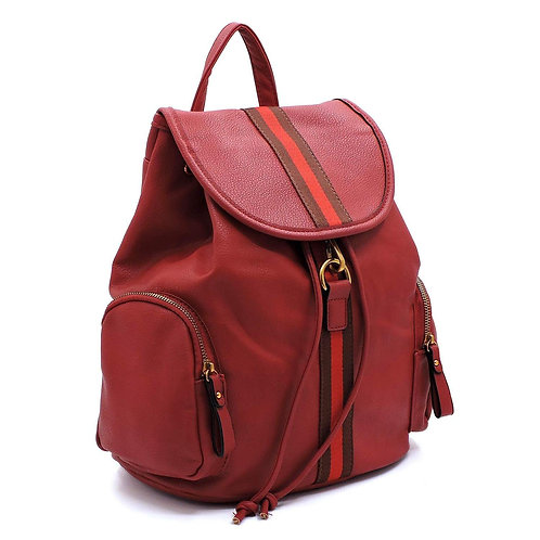 Red Back Pack with Wallet