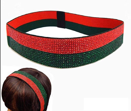 Bling Red and Green Headband