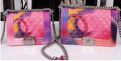 Colorful Chain Handle Handbag