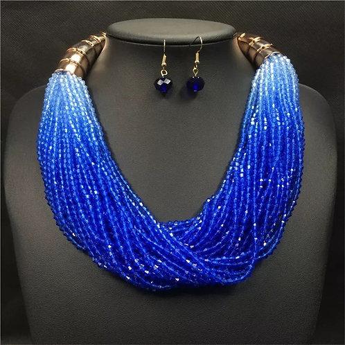 Bohemian Colorful Sea-bead necklace earring set