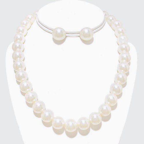 12 MM Cream Pearl Necklace