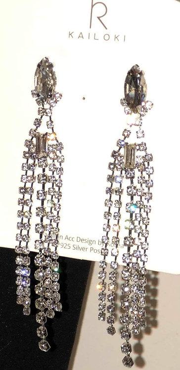 Bling Silver Statement Earrings