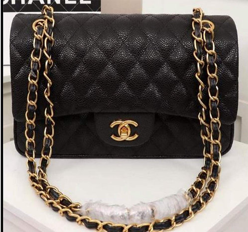Quilted Gold Chain Handbag