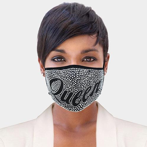 Queen bedazzled mask