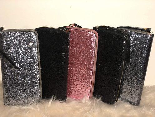 Sequin Glitter Wristlet Wallet