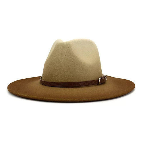 Tan/Brown Mixed Fedora