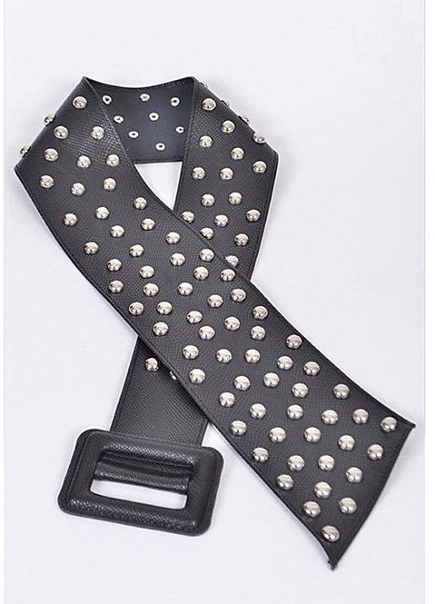 Black Silver Studded belt