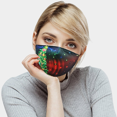 BLING EMBELLISHED XMAS TREE Decor Mask