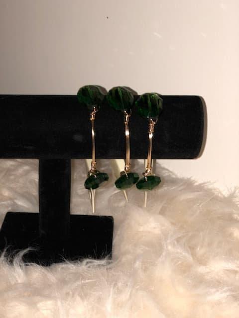 Green Gem Wire Twist bracelets