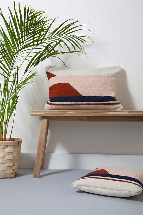 Large Convergent Cushion Pink On a Bench