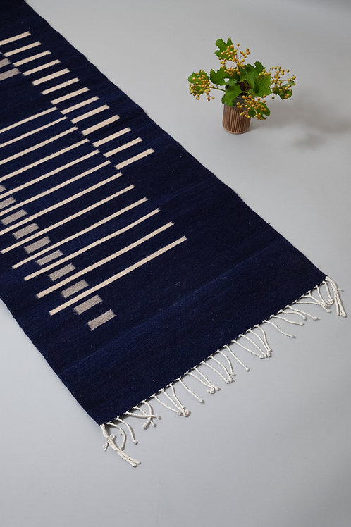 Parallel Runner Navy rug