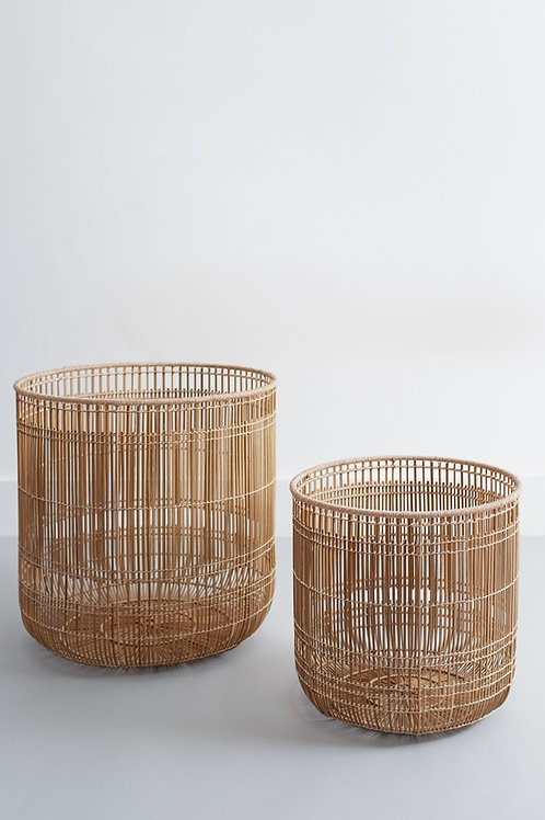 Tangent Basket Natural handwovenwith locally-sourced Buri Palm