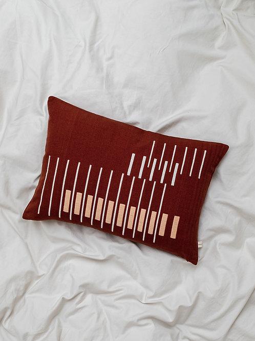 Parallel Cushion on duvet
