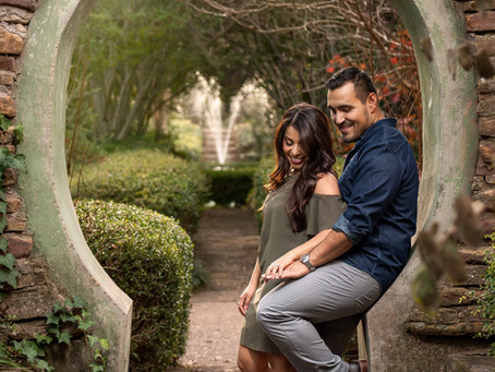 The Garden Engagement Session: Pros and Cons: Lily & Ivan's Engagement Session, Weatherford TX