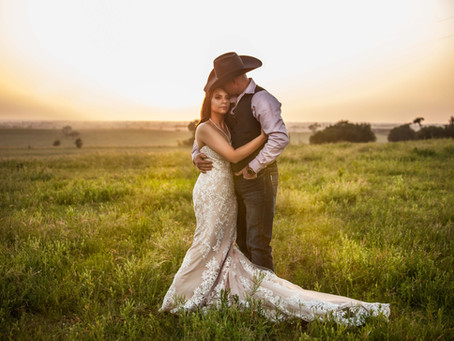 A Wedding Story: Emily & Jake's Rustic Wedding at Double K Ranch in Gainsville, TX
