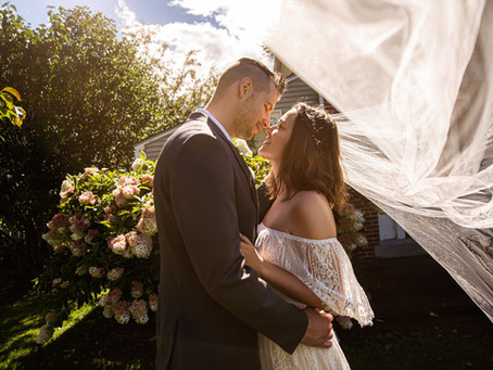 A Wedding Story: Brent & Alexandria's Intimate Wedding at the Turner Farmhouse, La Motte, VT