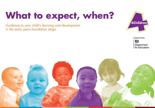 What to expect, when? - a useful guide for parents and carers