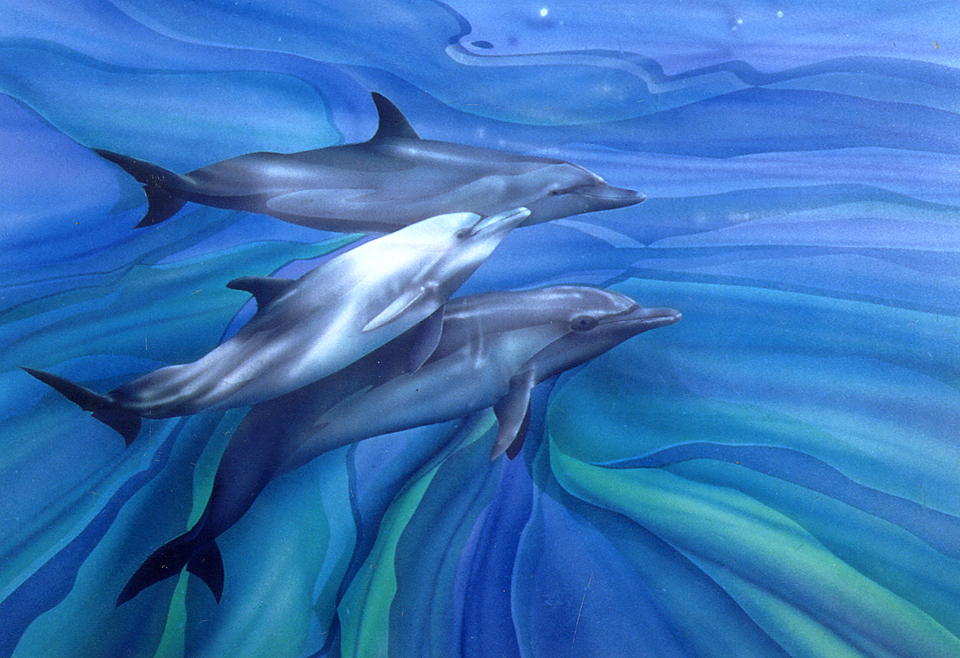 Dolphin painting