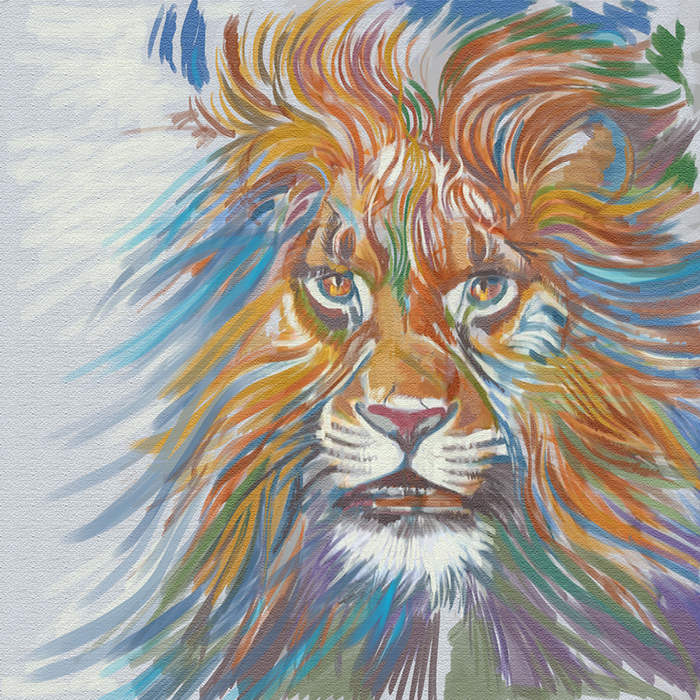 Lion Canvas Saatchi