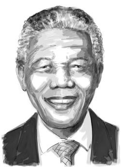 Mandela realistic  sketch