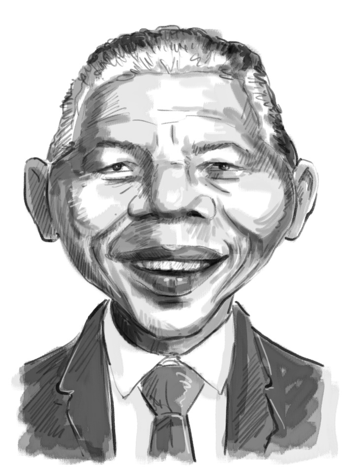 Mandela charicature sketch