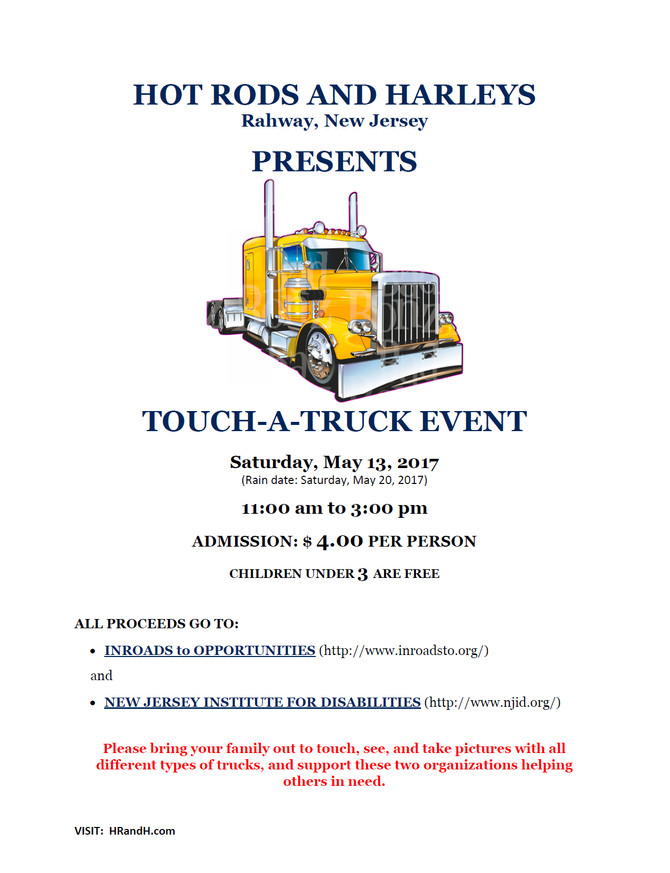The Feel of Hot Rods and Harleys?  Yes - TOUCH A TRUCK!
