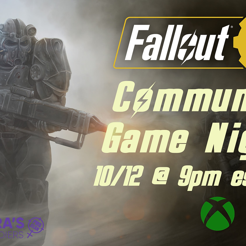 Fallout 76 Xbox Community Game Night