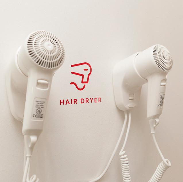 shared bathroom-hair dryer