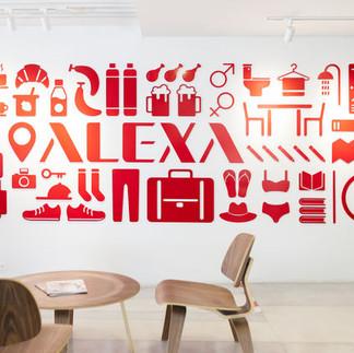 Alexa hotel wall