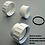 "Thumbnail: Union 2"" set (3 pcs) with O-ring  White - Fitting"