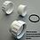 "Thumbnail: Union 1.5"" set (3 pcs) with O-ring  White  - Fitting"