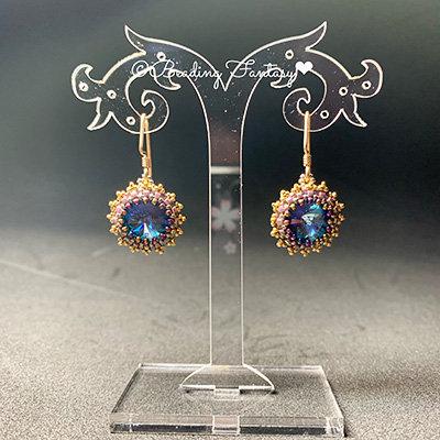 Swarovski beaded earrings [Ocean]