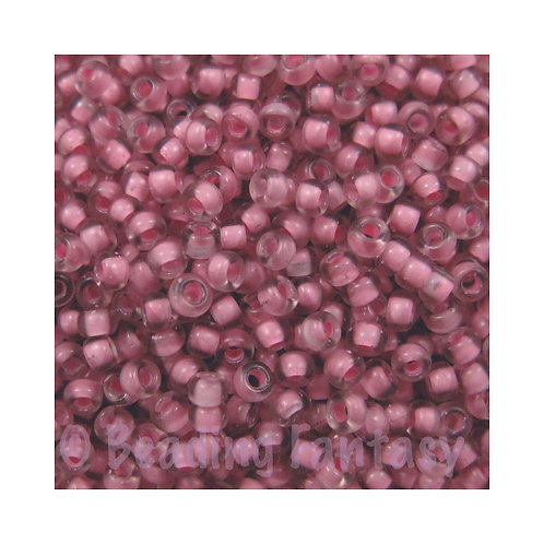 M11-1931  -  Semi Frosted Light Raspberry Lined Crystal