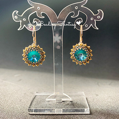 Swarovski beaded earrings [Laguna]