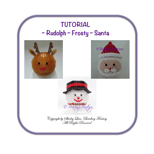 PDF Tutorial for Rudolph, Frosty and Santa