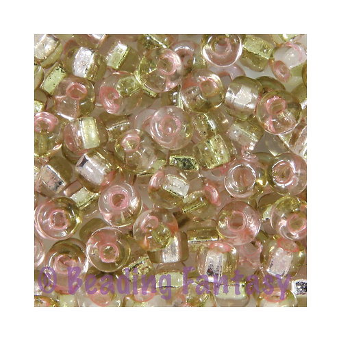 M6S-3279  -  Square hole, Rococo Silverlined Pink Chartreuse
