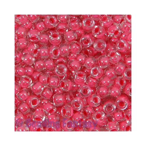 M8-208  -  Carnation Pink Lined Crystal