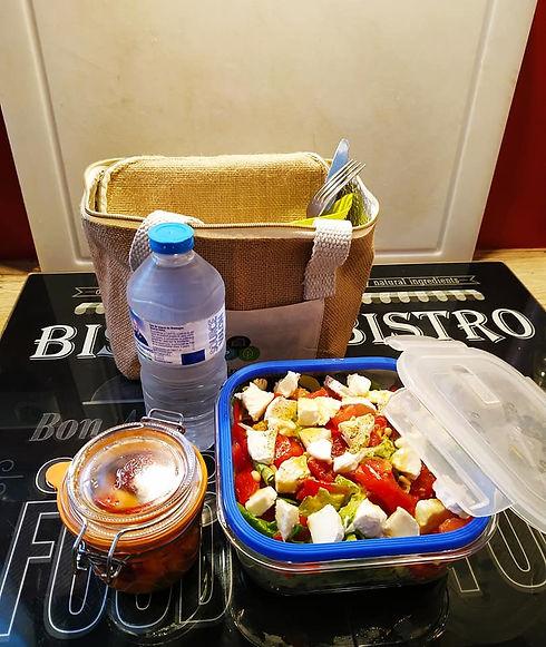 Panier PicNic Salade Elo eau et salade d