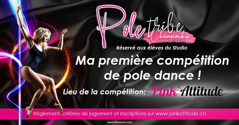 première compétition de pole dance pink
