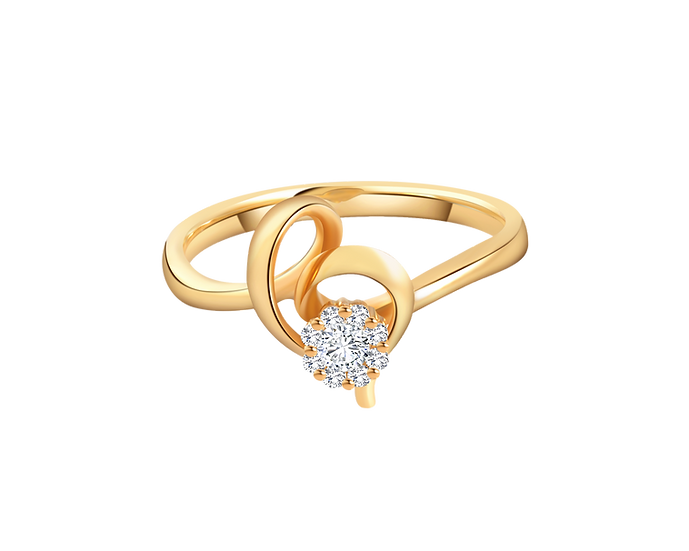 .08 CT Diamond Heart Form Engagement Ring with Diamond Accent .035 CT TW