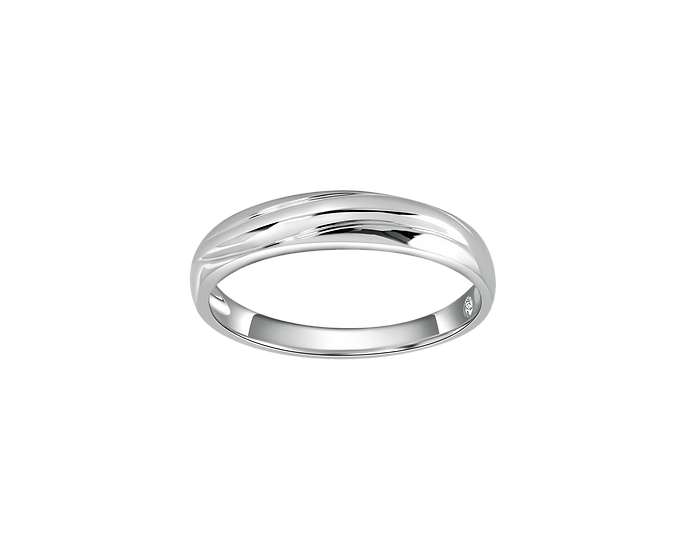 Arched Gold Band with Interior Diamond - Men