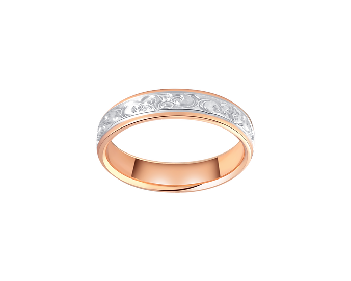 Classic Gold Band with Cursive Engraving - Women