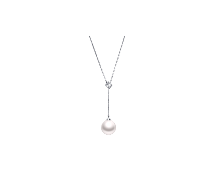South Sea Pearl & Diamond Necklace (11-12mm / .162 CT)
