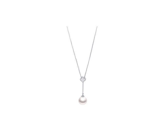 Akoya Pearl Gold Necklace (9-9.5mm / .112 CT)