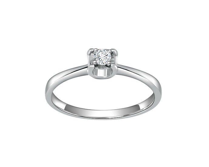 .08 CT Tapered Prong Engagement Ring