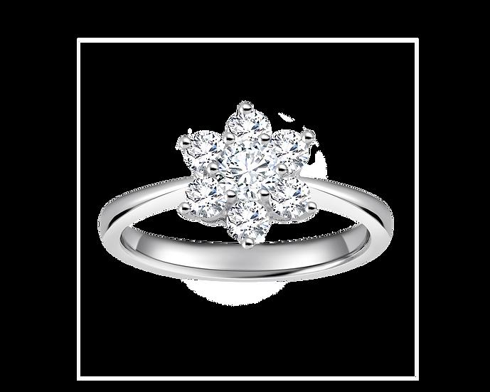 .20 CT Star White Diamond Engagement Ring .50 CT TW