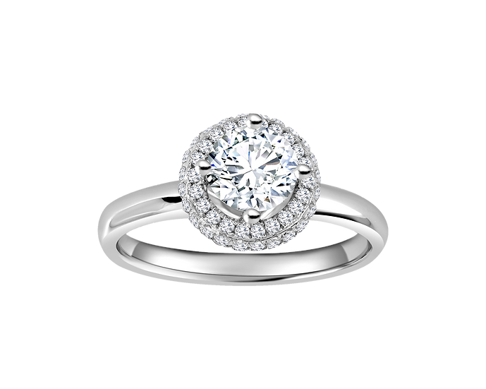 .60 CT Halo Engagement Ring
