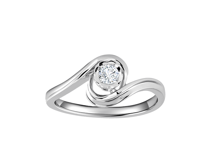 .04 CT Free Form Split Shank Engagement Ring