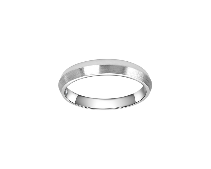 Spit Texture Gold Band with Interior Diamond - Men
